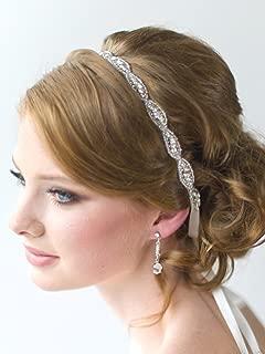 FXmimior Bridal Applique Rhinestone Headband Wedding Evening Party Headpiece