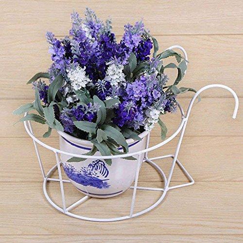 Yanyan YAN Étagères à Fleurs Étagère à Fleurs en Fer Balcon Étagère à crémaillère Garde-Corps Windowsill Pot à Fleurs,BAI