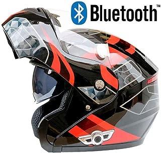 JohnnyLuLu Modularer Bluetooth-Helm f/ür Motorr/äder mit Doppelvisier Motorrad-Motorradhelm mit integriertem Headset-Lautsprecher und Mikrofon,M Antibeschlag-Doppelscheibe 57~58CM