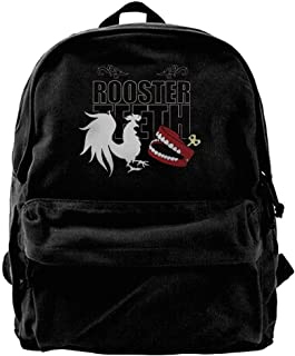 Canvas Backpack, RT Rooster Teeth Casual Computer School Bag Daypack For Travel, Hiking, Camping