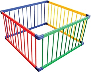 XHJYWL Playpen Color Play Yard Wooden, Baby Wood Frame Indoor & Outdoor Play Space, Safety Fence for Pet & Child (Size : 190x190x61cm)