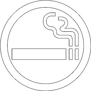 喫煙OKマークのカッティングステッカー光沢タイプ・耐水・屋外耐候3~4年【クリックポストにて発送】 (白, 75)