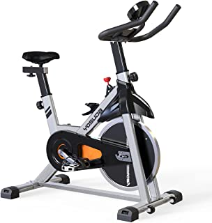 YOSUDA スピンバイク フィットネスバイク 本格トレーニング向き16KGホイール エアロビクスバイク 無段階負荷調節 静音 サドル&ハンドル調節可能 移動用キャスター付き トレーニングマシン エクササイズマシン 日本語取説 (グレー)