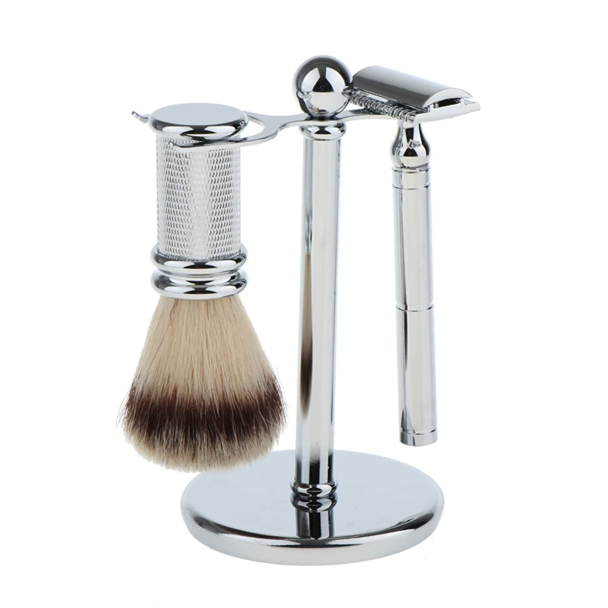 ぺディカブ平日道路を作るプロセスシェービング ブラシスタンド ダブルエッジ 剃刀 ブラシ マニュアルシェーバー メンズ プレゼント 贈り物