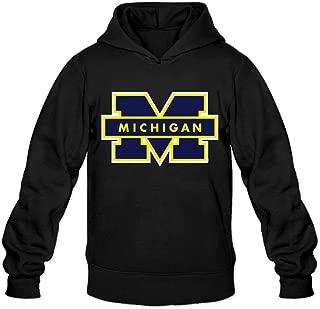 Michigan Wolverines Mens' Black Crewneck Hoody