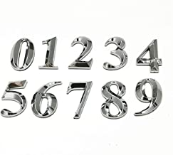 5 CM Afslanken Type Zilver Huisnummer Stickers 3D Zelfklevend Deurteken Nummer Digit Apartment Hotel Office Deur adres Dig...