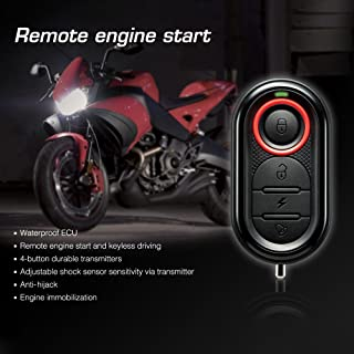 Star-Trade-Inc - Original Steelmate 986E 1 Way Motorcycle Alarm Moto Remote Engine Start Alarm Moto Protection with Mini Transmitter for BULTACO