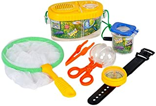 Bug Catcher Set, 6 Pcs, Outdoor Toys for Kids, Catch & Release Backyard Game   Includes Butterfly Net, Bug Carrier, Tweeze...