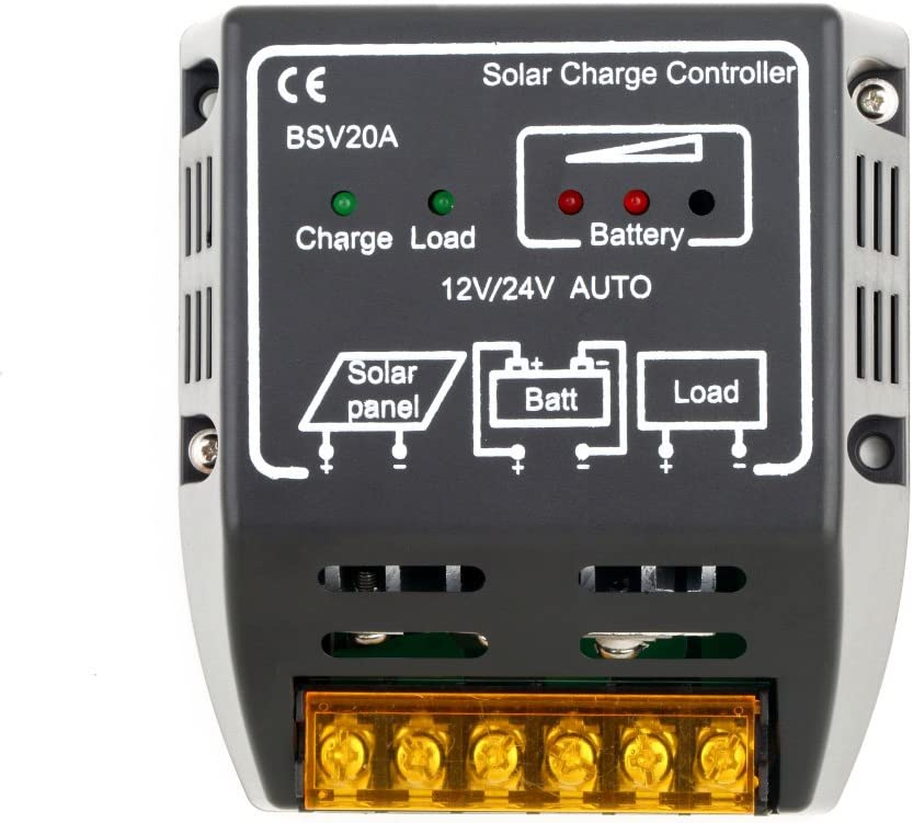 Controlador de carga solar, panel solar LESHP 20A 12V 24V regulador de batería de protección segura