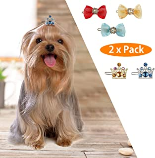 Crown Pet Cat Dog Hair Clips Cute Puppy Dog Hair Clips Handmade Hair Accessories Pet Grooming Products Topknot Grooming Ac...