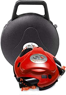 Grillbot Automatic Grill Cleaning Robot with Carrying Case - BBQ Grill Cleaner - Grill Brush - Grill Scraper - BBQ Accessories For Lidded Grills (Red)