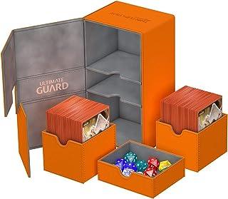 Ultimate Guard UGD010779 Twin Flip N Tray 200 Plus XenoSkin Deck Box, Orange
