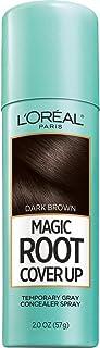 L'Oréal Paris Magic Root Cover Up Gray Concealer Spray, Dark Brown, 2 oz.