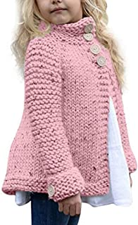 Digood Toddler Kids Baby Girls Button Knitted Sweater Cardigan Coat Tops Outwear