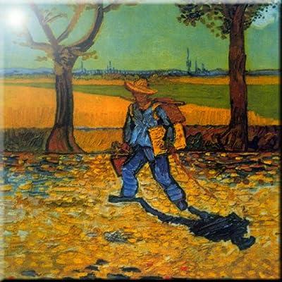 Rikki Knight Van Gogh Art Shelters in Cordeville Design Ceramic Art Tile 12 x 12