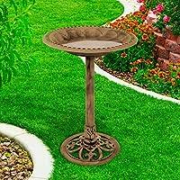 Pure Garden 50-LG1074 Antique Weather Resistant Resin Birdbath