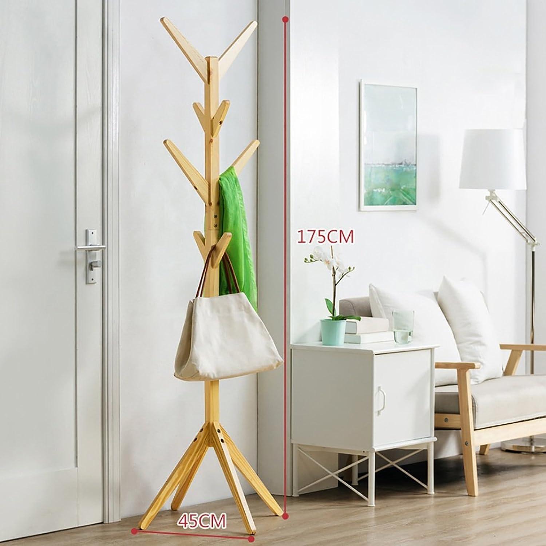 Coat Rack, Living Room Bedroom Simple Solid Wood Floor Coat Rack Simple Modern Clothes Hanger. (color   C)