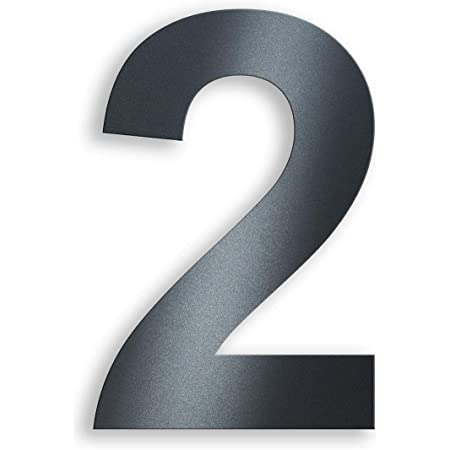 in Anthrazit RAL 7016 modernes Design 4 Ziffern /& Buchstaben Metzler-Trade Hausnummer aus Edelstahl H/öhe:14 cm