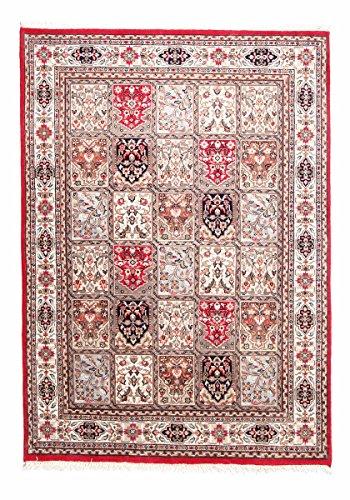 Nain Trading Indo Ghom 230x166 Orientteppich Teppich Dunkelbraun/Rot Handgeknüpft Indien