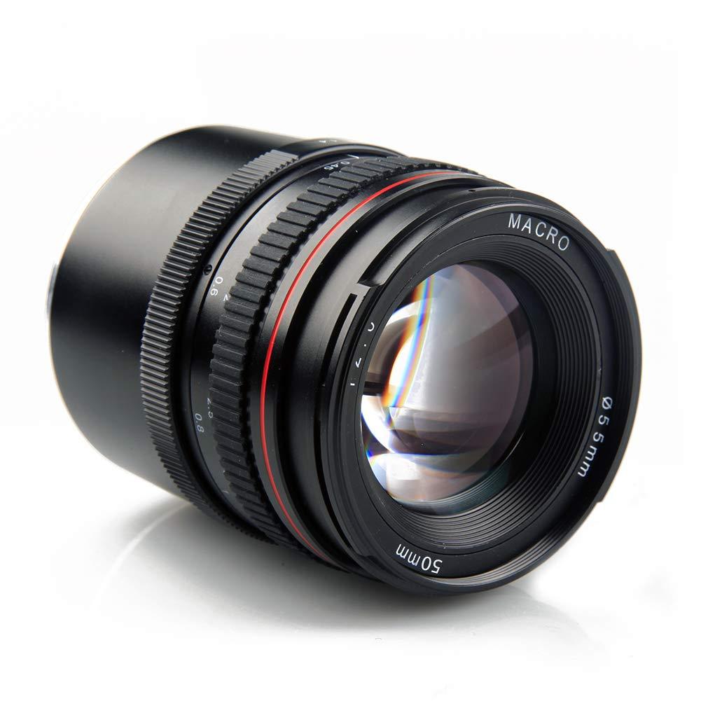 Lightdow EF 50 mm F1.4 estándar y Mediana teleobjetivo de Enfoque ...