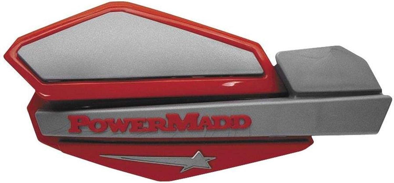 free Powermadd 34232 Omaha Mall Star Series Red Silver Handguards -