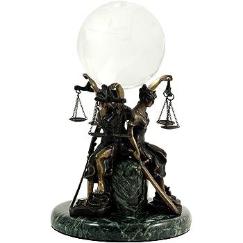Brown Bey-Berk B104S Bronze Sleeping Lady Justice Sculpture on Marble Base