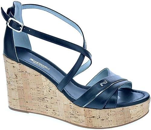 noir Giardini P908141d Noir Chaussure Sandales Compensées Femme