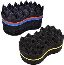 Esponja Rizadora de Pelo,Zuzer 2PCS Cepillo de Esponja Magic Peluquería Pelo Cepillo Rizo de Esponja Rizador de Pelo