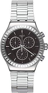 Swatch Quartz st. Steel Adjustable Strap, Grey, 21 Casual Watch (Model: YVS471G)