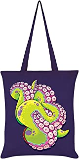 Tentacle Tangle Tote Bag Purple 38 x 42cm