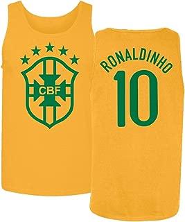 Tcamp Soccer Legends #10 Ronaldinho Jersey Style Men's Tank Top
