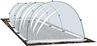 Growsun Garden Tunnel Plant Cover w/Arch Shape, Poly Vegetable Greenhouse Hoops PE Film Tunnels Outdoor Grow, Garden Stapl...