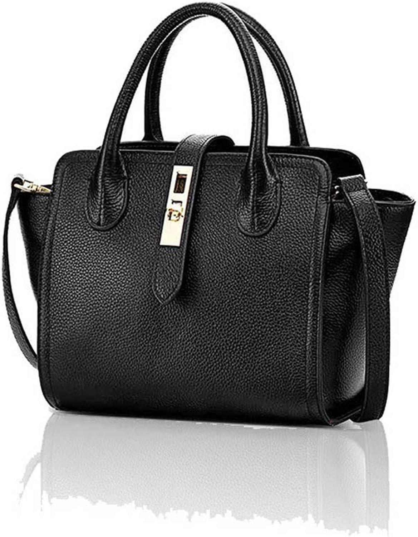 Ladies Handbag Leather Wings Baotou Layer Cowhide Women's Portable European and American Fashion Trend Dumplings Shoulder Diagonal Package (color   A, Size   22.2cm13.2cm20cm)