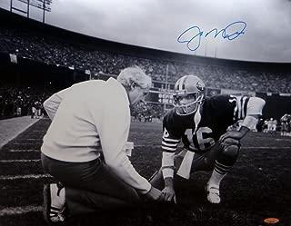 Joe Montana Autographed Blue 49ers 16x20 Kneeling With Walsh Photo- Tristar Auth