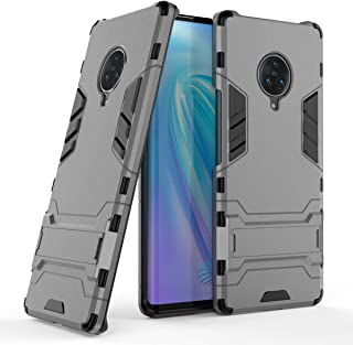 FanTing Case for vivo NEX 3 5G, Rugged and shockproof,with mobile phone holder, Cover for vivo NEX 3 5G-Gray