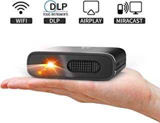 Mini Projector - Artlii Portable DLP Projector with 5200mAh Built-in Battery for Travel and Outdoor, Support 1080P WiFi 3D and Auto Keystone Correction, Neat WiFi Projector for iPhone and Phone