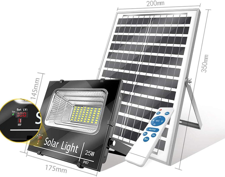 Solar-Flutlicht,Super Hell Hohe Energie  LED Zuhause Indoor Und Im Freien Wasserdicht Neues Lndliches Gartenbeleuchtung Strassenlicht (gre   25W)