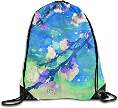 Jiger Orange Fish Drawstring Backpack Goodie Bags, Promotional Gym Sack for Birthday Party