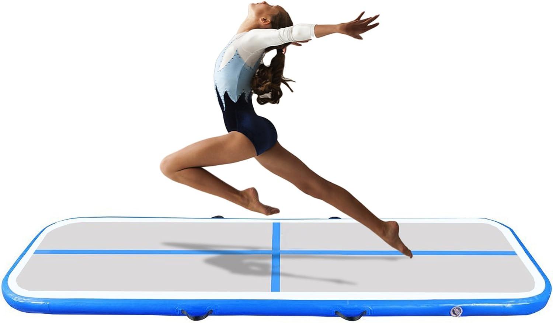 Elevens AirTrack Tumbling Mats für Gymnastik, aufblasbare Air Bodenschutzmatte für Zuhause, Backyard, Cheerleading, Strand, Park und Pool