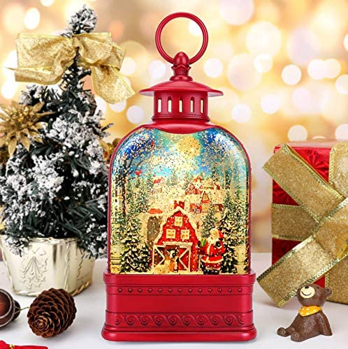 CaiFang Christmas Snow Globe Musical Lighted Snow Globes with Swirling Glitter Lantern Within product image