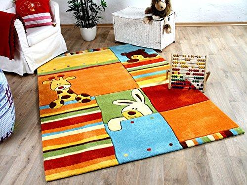 Lifestyle Kinderteppich Sunny Friends Orange Gelb in 3 Größen !!! Sofort Lieferbar !!!