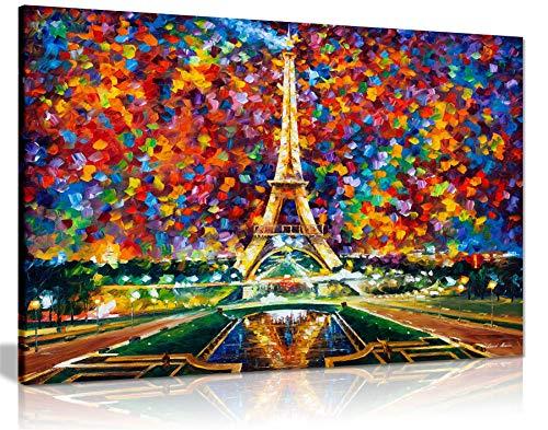 Leonid Afremov Ölgemälde auf Leinwand, abstrakt, für Wohnzimmer, Heimdekoration, Paris of My Dreams, 91x61cm (36x24in)