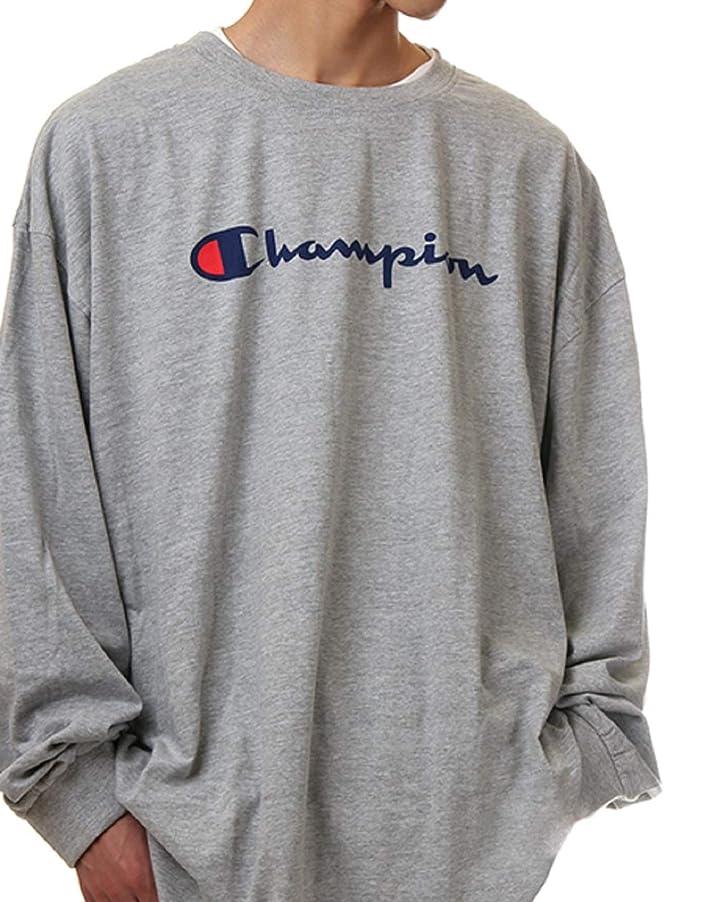 ステレオ敬間接的USAモデルロンT CHAMPION チャンピオン長袖TシャツCH327LS [並行輸入品]
