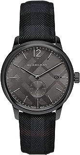 BURBERRY - BU10010 - Reloj de esfera redonda con estampado de cuadros, 40 mm