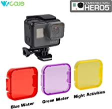 WoCase Lens Filter Set for GoPro HERO5 Cameras (Red, Purple, Yellow?Not Compatible with Use of Housing) For Scuba Diving Snorkeling and Water Sports