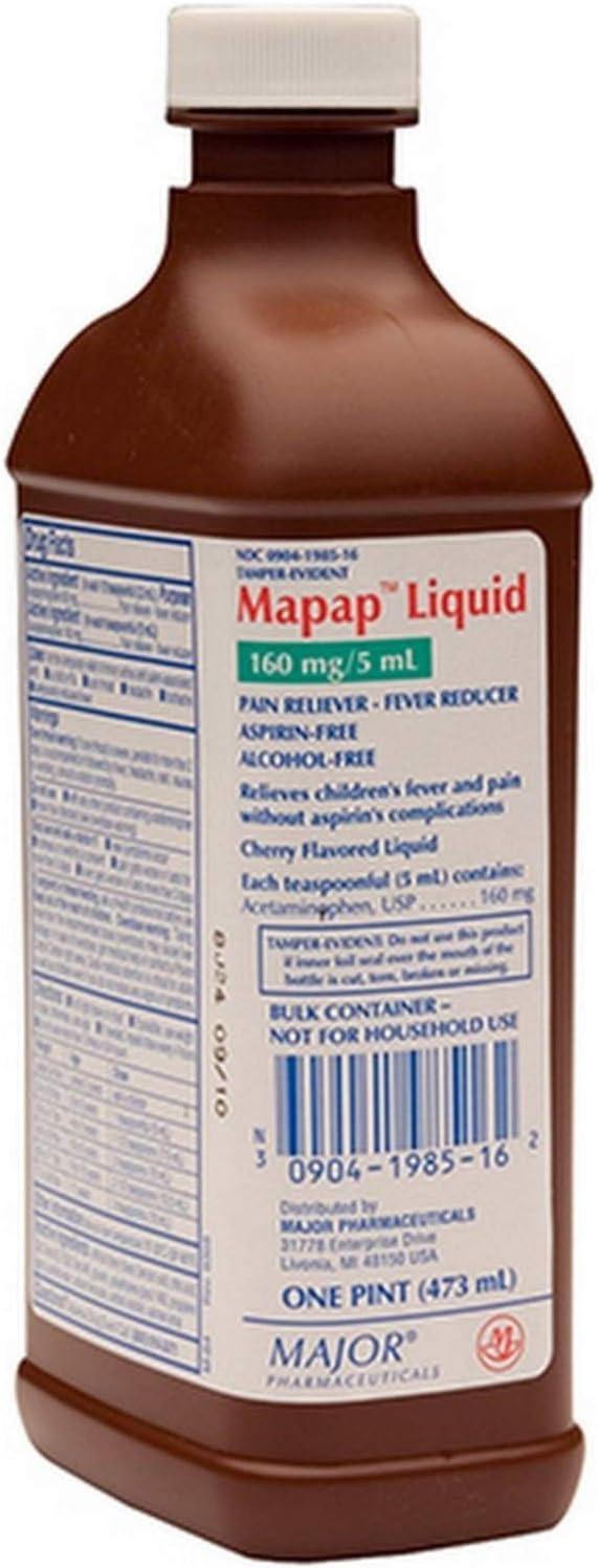 Major MAPAP Elixir Spring new work ACETAMINOPHEN-160 MG 5 ML UPC Red San Jose Mall 3090 473