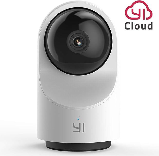 YI Cámara de Vigilancia WiFi Dome X Cámara IP Interior Pan-Tilt 1080P Cámara Vigilancia Inalámbrica 360° con Micrófono y Altavoz Visión Nocturna Detección de Movimiento Compatible con iOS Android