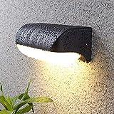 HAOFU 12W LED Apliques de Pared,Lamparas de Paredimpermeable IP65, 3000K luz blanca cálida, Universal para Decoración de Casa Jardín de Lluminación de Exterior y Lluminación de Interior
