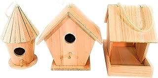 Oojami 3 Large Design Your Own Bird House Set Include Bird Feeder and 2 Bird House