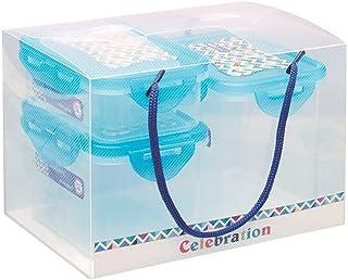 Pratap Plastic Bio Safe Plain Container Set, Multi-Colour, 160 ml, 1001, 4 Pieces